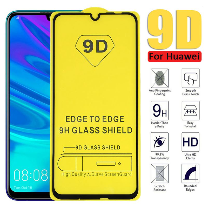 5D/9D For Huawei Psmart 2019 nova 2 lite Tempered Glass For Huawei honor 10i 6X 7A 7C  Screen Protector Full Cover Glass Film-in Phone Screen Protectors from Cellphones & Telecommunications