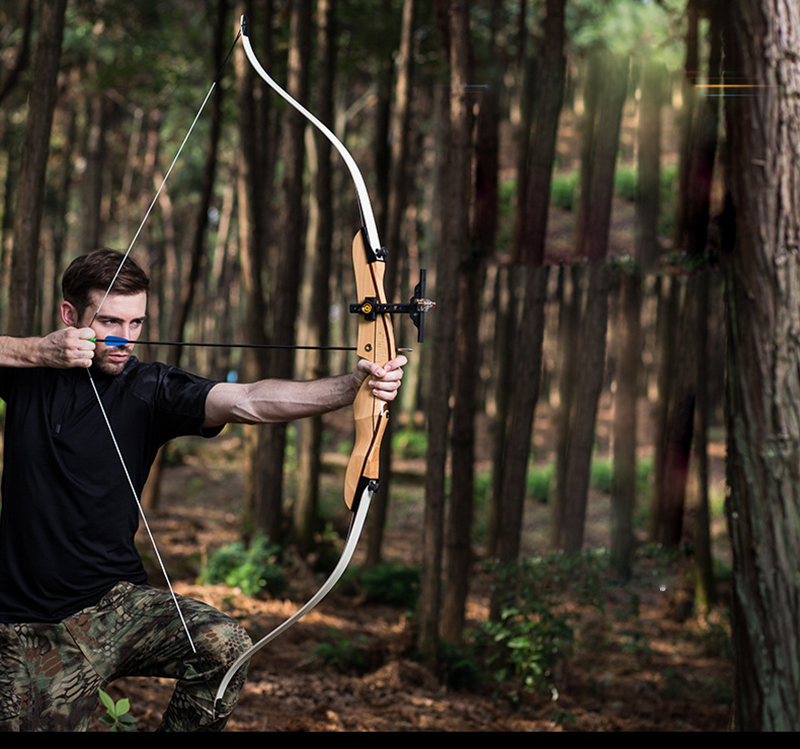 10-40lbs Archery  Hunting Bow Wooden Shooting Recurve Bow Fiberglass Limbs for outdoor Sports Game Practice new chinese ancient tradition of the revcurve bow of pure handmade outdoor archery hunting practice sport games wooden longbow gift