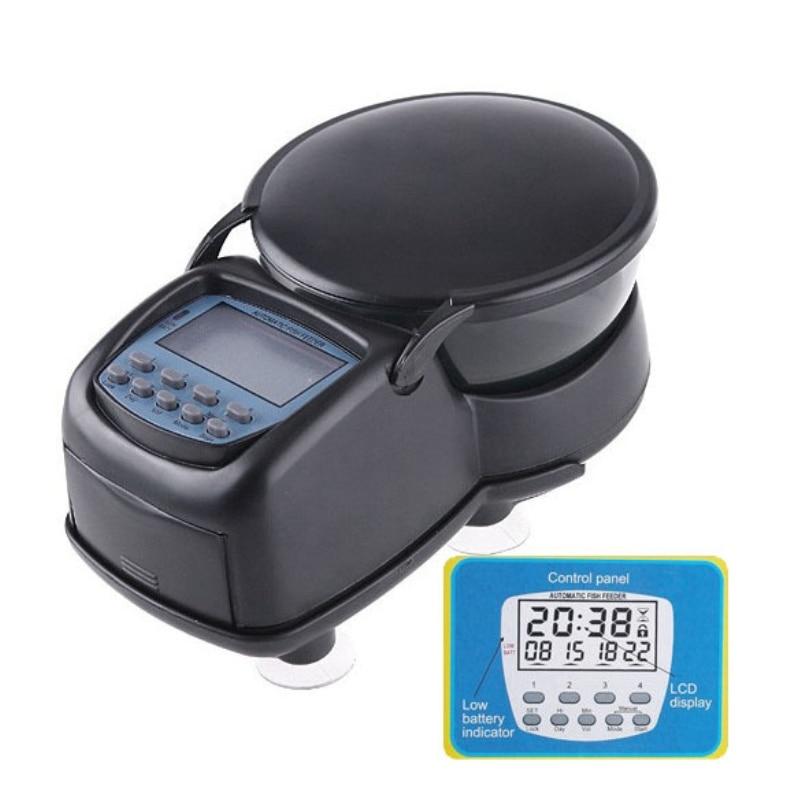 Digital lcd automatic aquarium tank automatic fish feeder for Fish feeder timer