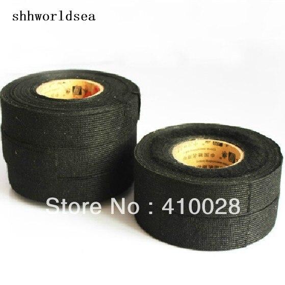 shhworldsea car clip (10pcs)wiring loom harness adhesive cloth fabric tape  19mm/15m
