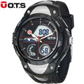 OTS Brand 2016 New Men Chronograph Army Sport Digital Swimming Watches Analog Dual Time Shock Alarm Date Gift Watch Xmas Gift