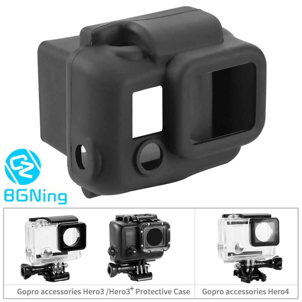سيليكون لينة المحمولة واقية الغبار غطاء مقاوم للماء الجلد ل GoPro HD بطل 3/3 +/بطل 4 عمل ملحقات الكاميرا