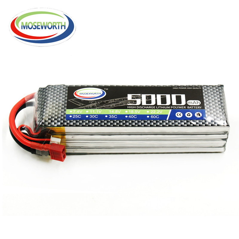14.8v 40C 4S 5000mAh Lithium Battery For RC Drone Helicopter Airplane Quadcopter Car Boat Remote Control Toys Lipo Batteries mos rc lipo battery 2s 7 4v 3300mah 40c 80c for rc drone helicopter car boat quadcopter li po batteries akku