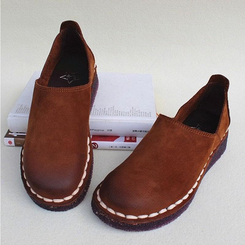 ผู้หญิงรองเท้าแบนลื่นบน Oxfords 100% ของแท้หนังผู้หญิงรองเท้าผ้าใบฤดูใบไม้ผลิ/ฤดูใบไม้ร่วงสุภาพสตรีรองเท้าแบน (2019   2)-ใน รองเท้าส้นเตี้ยสตรี จาก รองเท้า บน   1