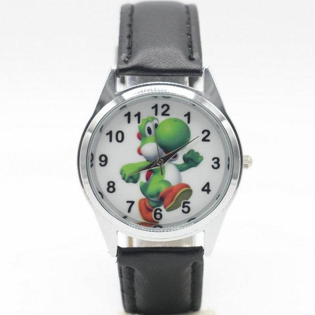 Free Shipping new fashion Mario Yoshi Watches Children Kids Boys gift Watch Casu