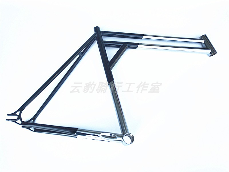 700c 520mm dobule top tube Crom steel racing fixed gear bike frame track frame fixed gear frame bsa carbon 1 1 2to 1 1 8 bike frameset with fork seatpost road carbon frames fixed gear frameset