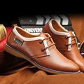 2016 Hot Sale Genuine Leather Shoes Male Lace-up Waterproof Fashion Summer Dress Shoes Breathable Wedding Business Men Shoes
