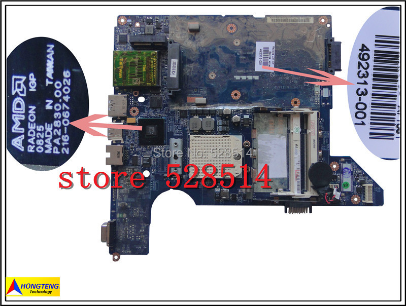 original 492313-001 For HP CQ40 Motherboard integrated JBL20 LA-4111P DDR2 100% Test ok original for hp touchsmart 23 all in one pc motherboard pn 732130 002 ipshb la 100% test ok