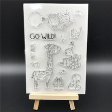 Party Animal Transparent Clear Silicone Stamp/Seal for DIY scrapbooking/photo album Decorative clear stamp sheets A524