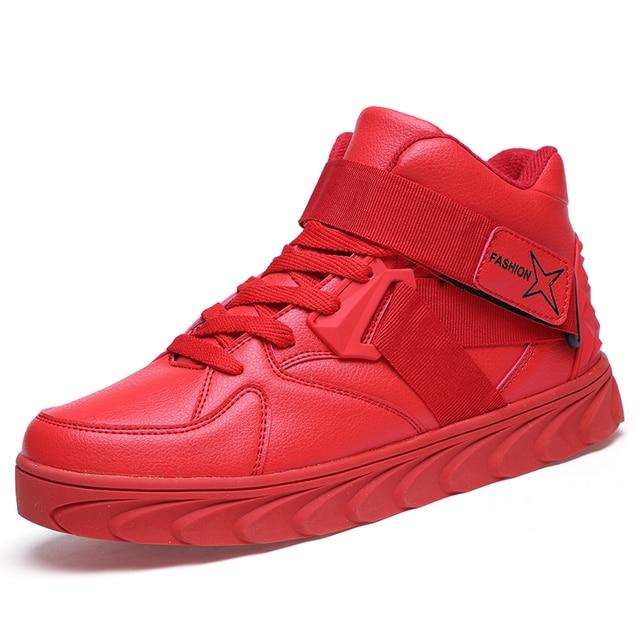 6df3c2e9b626 GOXPACER Autumn Fashion Men Shoes High Cut Shoes Men Casual Shoes Elevator  Flat Heel Men Buckle Flats Wholesale Free Shipping