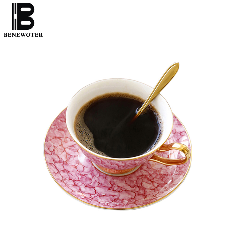 200cc Creative Gem Texture Bone china Coffee Cup with Saucer Kit Home Art Drinkware Office Master Afternoon Tea Mug Sent Friends