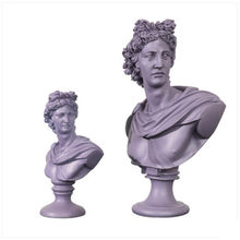 David Apollo Bust Art Sculpture Athena Venus Mary Goddess Statue Resin Art&Craft Home Decoration Accessories R2148(China)