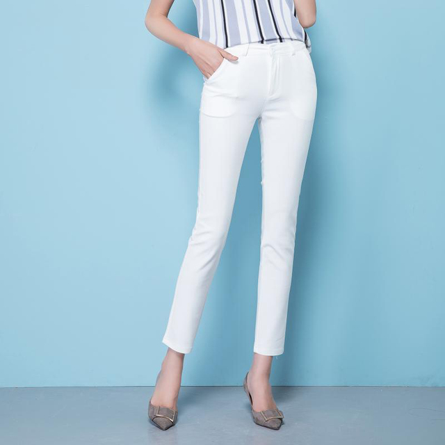 Spring Women's Casual Candy Pencil Pants 2019 Fashion Slim Elastic Cotton Trousers Women Solid 20 Color Plus Size pants S-4XL