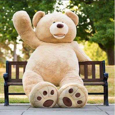 Ems 1 PCS raksasa 340 CM 134  inch boneka beruang ca0c60430a