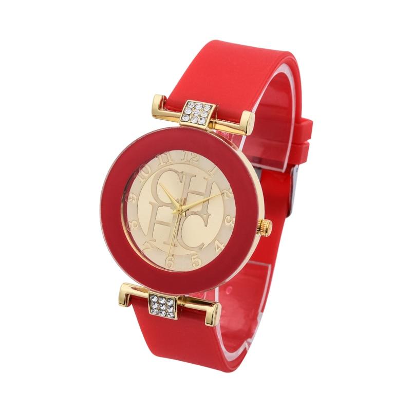 Kvinders ure 2018 New Brand Gold Quartz Watch Silikone Jelly Crystal - Dameure - Foto 2