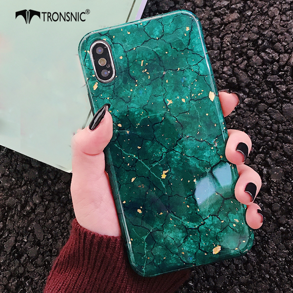TRONSNIC Glitter Phone <font><b>Case</b></font> for <font><b>iPhone</b></font> X XS MAX XR Green Purple <font><b>Case</b></font> for <font><b>iPhone</b></font> <font><b>6S</b></font> 6 7 8 <font><b>Plus</b></font> Gold Foil <font><b>Red</b></font> Luxury Cover Fashion image