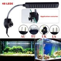 48 ledsクリップクランプ光二色led照明用水族館、魚タンク