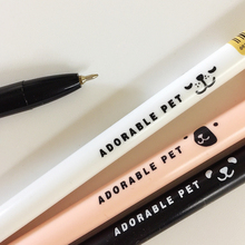 R07 2X Cute Kawaii Adorable Pet Thin Handle Stationery Ballpoint Pen Ball Pen School Office Supply Student Stationery