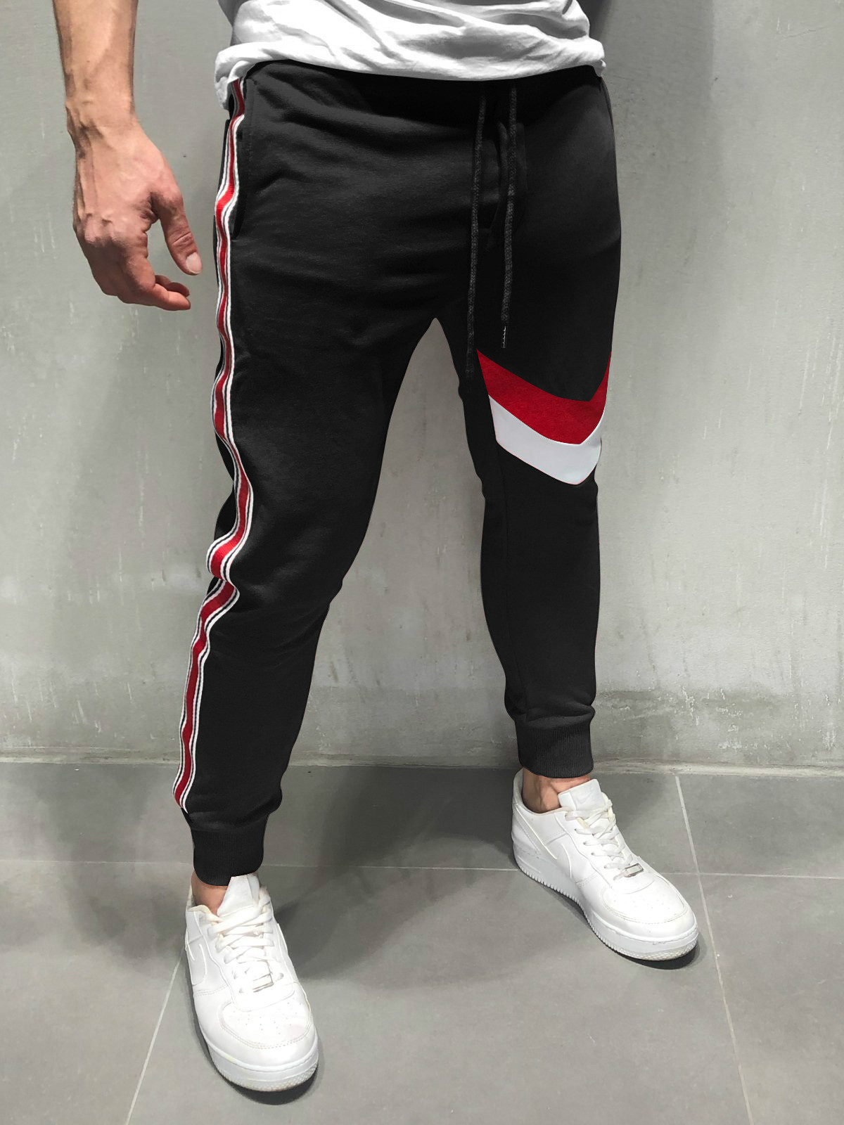2019 Spring Men Pants Fashion Splice Men Pants Casual Slim Fit Mens Joggers Sweatpants Pantalon Homme Men Clothes