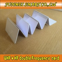 240c916b73f8 10PCS double frequency long distance uhf rfid card tag 860 960 mhz+HF rfid  uhf gen2 EPC iso tag card UHF tag composite card