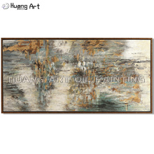 Big Size Hand-painted High Quality Dark Tone Abstract Oil Painting for Living Room Decor Modern Texture Wall Art
