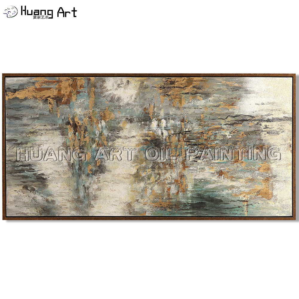 Big Size Hand painted High Quality Dark Tone Abstract Oil Painting for Living Room Decor Modern Texture Wall Art Oil Painting