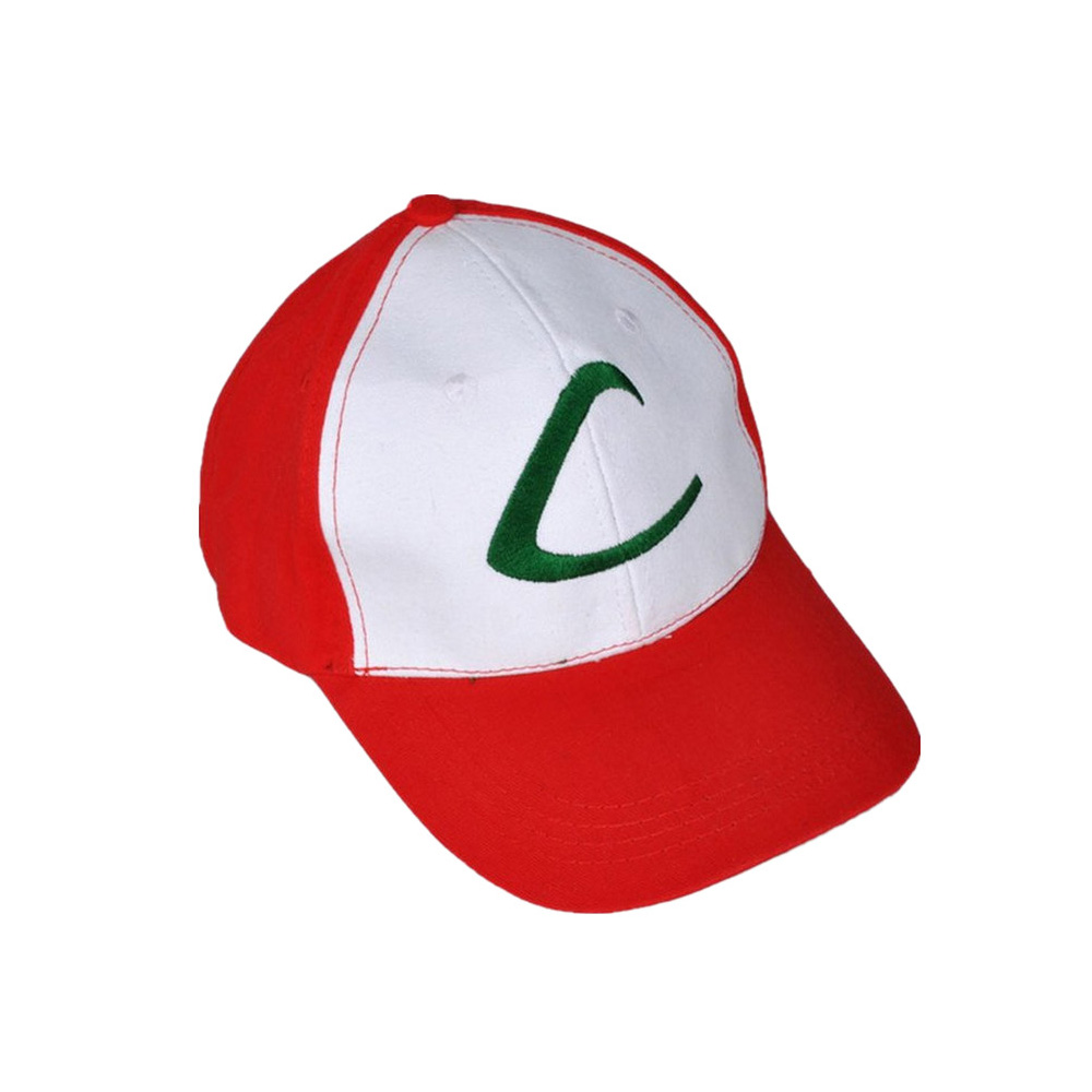 New Pokemon Ash Ketchum Trainer Costume Cosplay Hat Cap  Ash Ketchum