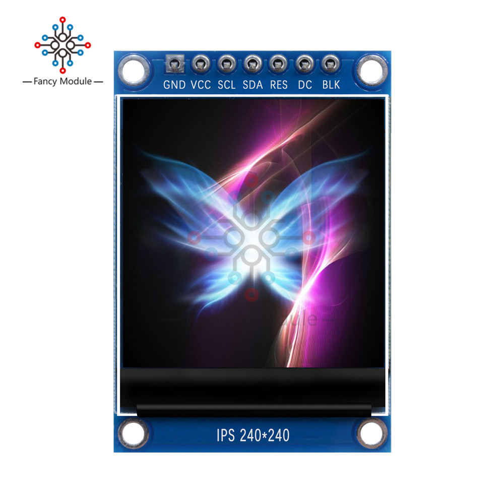 diymore 1.3 inch IPS Full Color LCD <font><b>OLED</b></font> Display Screen ST7789 Drive IC <font><b>240*240</b></font> SPI Communication SPI Interface for Arduino image
