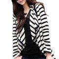 Women Long Sleeve Striped Cardigan Long Coat Jacket Casual Loose Sweater Outwear 004