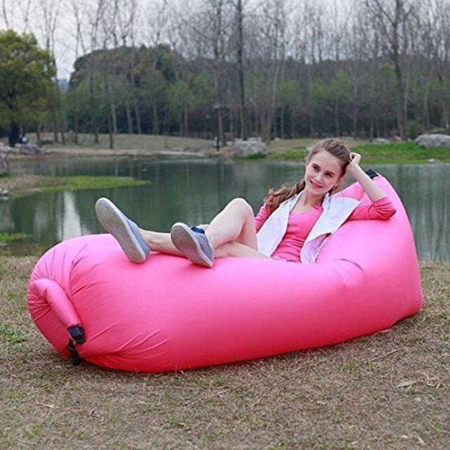 Playa Al Aire Libre Portable Inflable Sofá Muebles de Jardín Hamaca Para Dormir Cama de Aire Que Acampa de Nylon Hueso Perezoso cama Limpia Grande