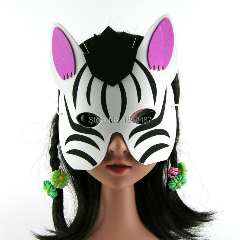 free ship costume cartoon zebra animal mask eva foam for kids halloween festival play party for - Kids Halloween Masks