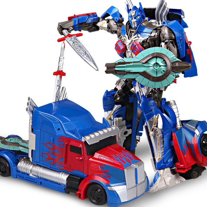 Alloy Version Robots Optimus Prime Big Truck Fighter Megatron Model Toys Figures Deformation Car Robot Action Children Gifts