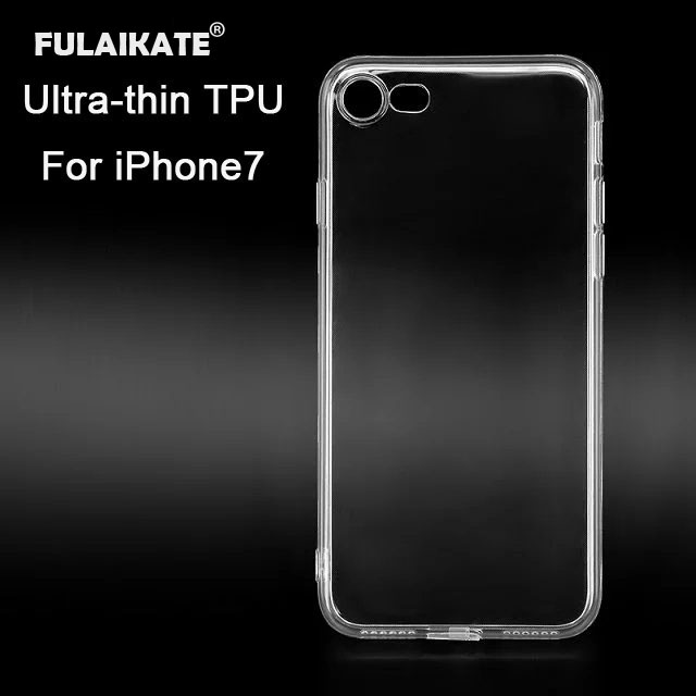 "FULAIKATE Ultradünne transparente TPU-Hülle für iPhone 7 Soft Protective Edge Back Cover für iPhone 7 4.7 ""mit Staubstopfen"