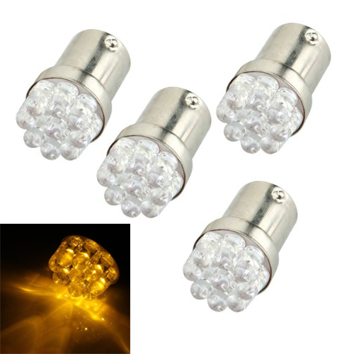 4 x 1156 BA15S 9 LED Car Parking LED light Traffic Light Flashing Amber 12V rear light