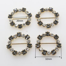 5 pçs/set 32mm hebillas Strass Metal redondo planas alça de Ombro Accesorios mujeres Ropa cinturón Menina artesanía decoración