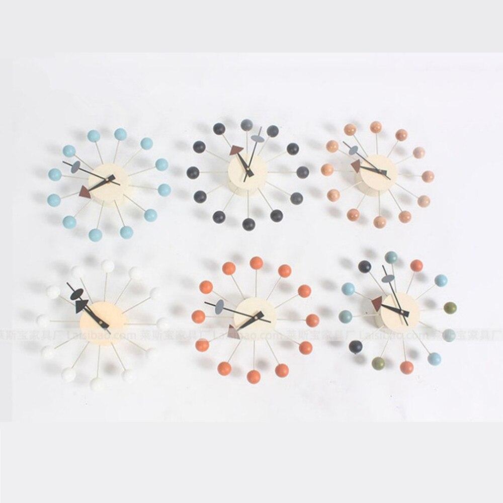 Horloge murale créative déco horloge bonbons grande roue montre fond élégant minimaliste circulaire coloré boules horloges murales