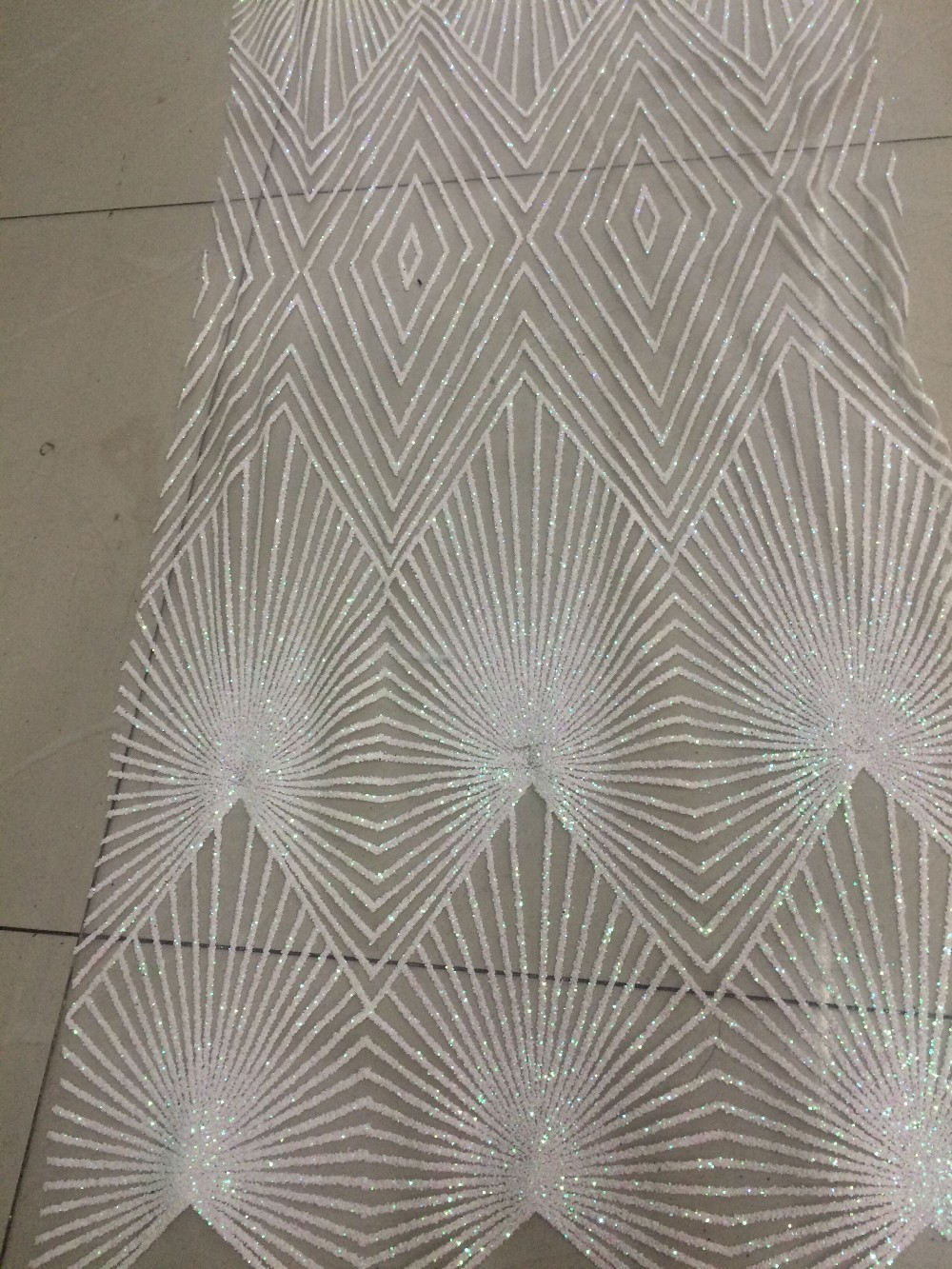 New Arrival african Tulle lace fabric with glitter in gray African net lace Z han62437 for