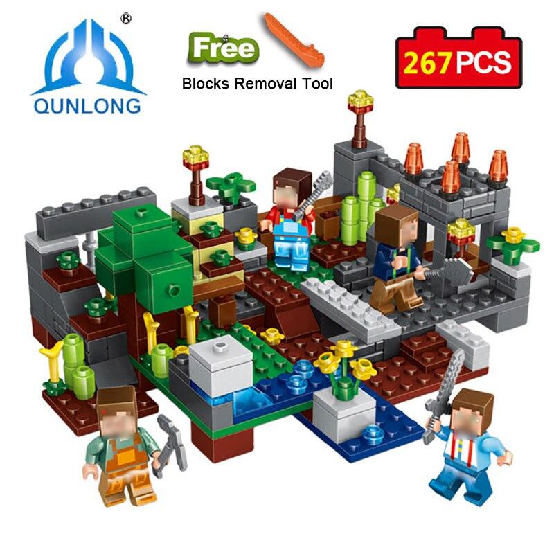 Qunlong 0506 Spielzeug 4 in 1 Stadt Gruppe Bausteine Figures Bricks Lernspielzeug Für Kinder Kompatibel Legoe Minecraft Stadt