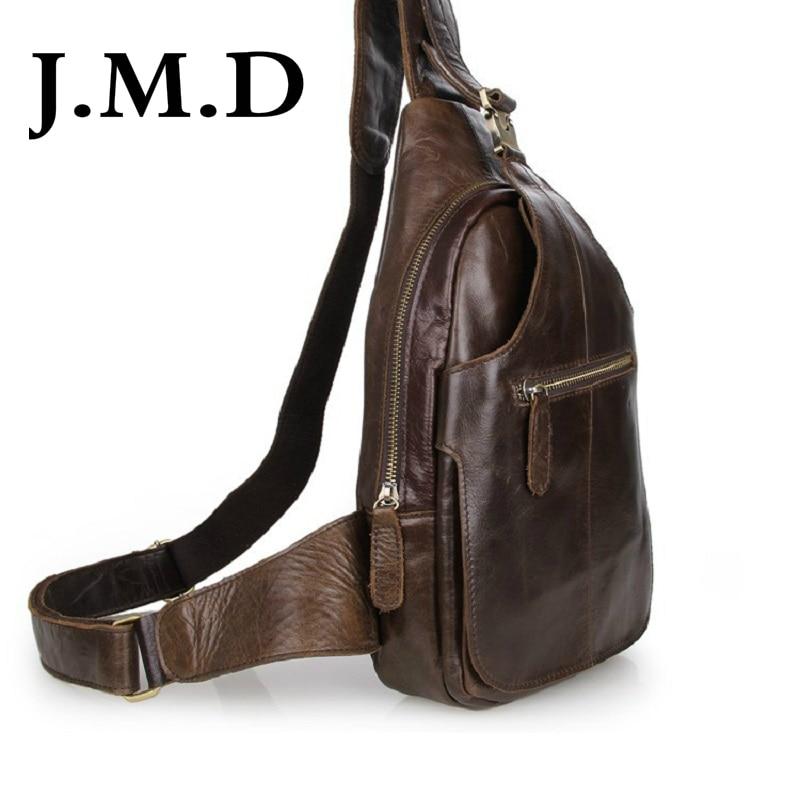 2921bc2c93d44 J.m.d 2017 nowa skórzana przyjazd unikalne mężczyźni bosom torba torebki na  ramię torba skórzana torba w klatce piersiowej 2467