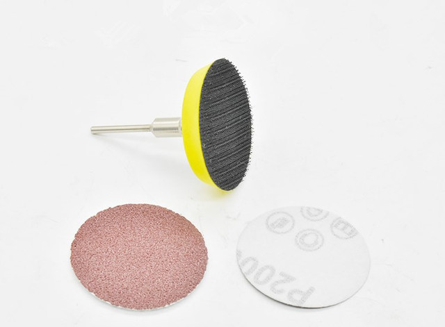 61pcs Lot 50mm Sander Disc Sanding Disk Grit 80 320 Paper With 1pcs 2