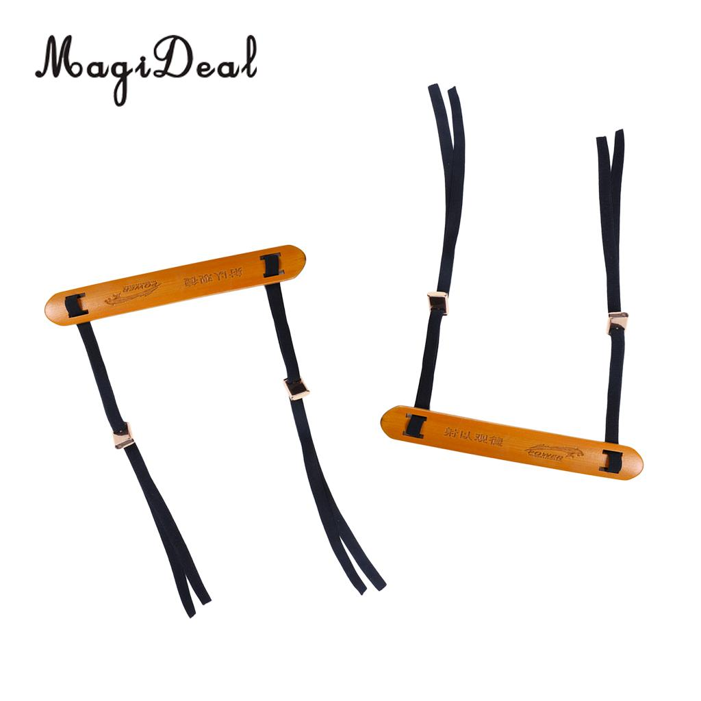 MagiDeal Archery Arm Guard Protector Forearm Guards Bamboo Armguard Protection