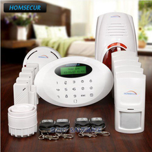 HOMSECUR Wireless GSM SMS Autodial Home Security Alarm System +PIR+5*Door Sensor