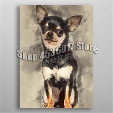 5D DIY Diamond Painting Chihuahua Dog Cross Stitch Needlework Full Round Rhinestone Mosaic Embroidery Crafts Home Decor