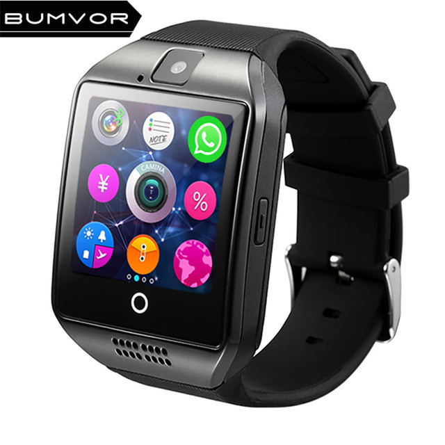 BUMVOR Q18 Passometer Smart watch with Touch Screen camera TF card Bluetooth sma