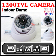 цена на HotSale HD 1/3cmos 1200TVL INDOOR Dome Surveillance Security CCTV Analog mini Camera 36LED IR-CUT Night Vision 30m home Video