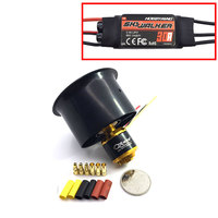QX MOTOR Brushless Motor 55mm 6 Blades EDF Ducted Fan with QF2611 3500KV and 30A esc for RC Drone Ducted F22128/F22129