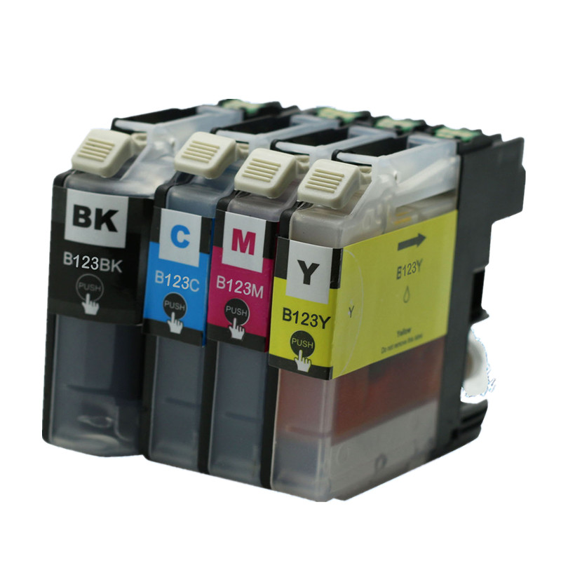 4 x LC123 LC-123 LC 123 XL LC123XL Ink Inkjet Cartridges For Brother MFC J4410DW J4510DW J4610DW J4710DW J470DW J6920DW Printer