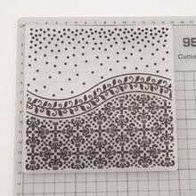 Пластиковый с тиснением шаблон папки для DIY альбом для скрапбукинга карта цветок искусство