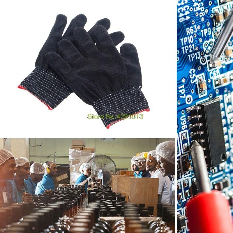 1 Paar Anti Statische Gleitschutz Handschuh Frau Arbeits Handschuhe Hand Schutzhülle Gartenarbeit Tropfen Verschiffen Unterstützung