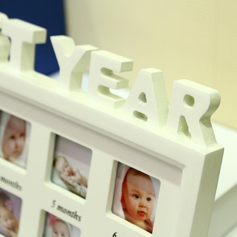 Multi Fotowand Bilderrahmen Baby/Kinder 12 Monate New Born Hängen ...
